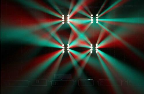 8 eye Spider Lights RGBW 4in1 LED Beam Moving Head Light