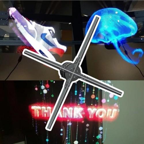 50cm Advertising Hologram Display 3D LED Holographic Fan