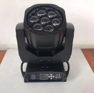 Mini Bee-Eye Wash Zoom 7x15W RGBW Colorful LED Moving Head Beam Light