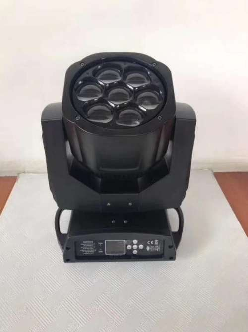 Mini Bee-Eye Wash Zoom 7x15W RGBW Colorful LED Moving Head Beam Light