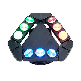 9x10w 4in1 Super 3 Heads LED Spider Beam Moving Head Light