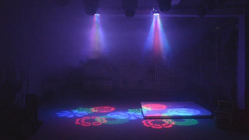 RGBW 8 Eyes LED Gobo Disco Moving Head Light With Laser