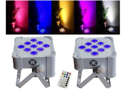 Battery Powered 9*18W RGBWA+UV 6in1 Wireless LED Flat Par Light