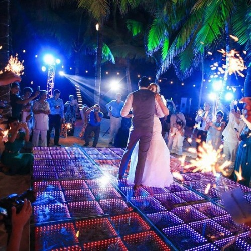 50*50cm Wedding Party 3D LED Dance Floor