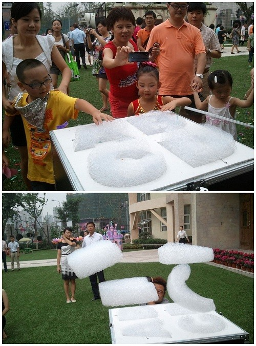 Entertainment Flying Helium Foam Clouds Making Machine for Wedding Party