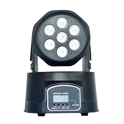 7*10W RGBW mini LED Moving Head Wash Light