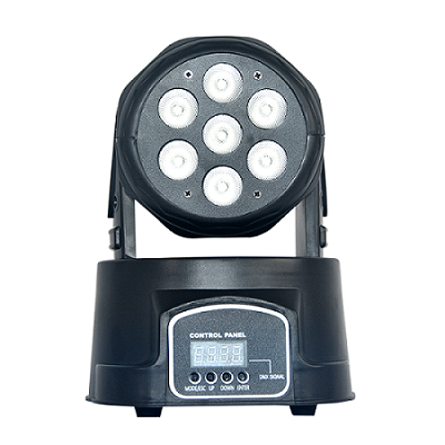 7*10W Disco DJ light RGBW Mini LED Moving Head Wash