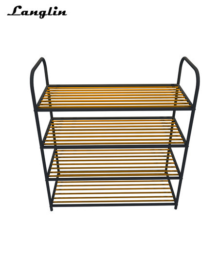 Classic Rose Gold stainless steel clothing display rack ,Shoe display rack