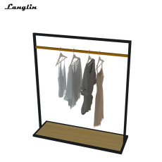 Hot new stainless steel clothing store central island display rack