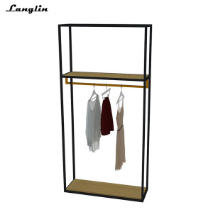 2018 Black customizable stainless steel clothes display frame
