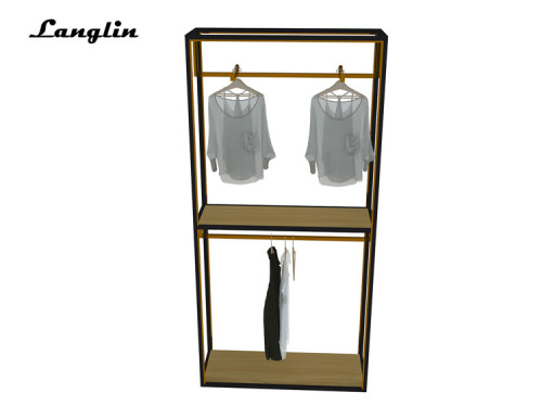 2018 Fashion brief stainless steel clothing store display rack