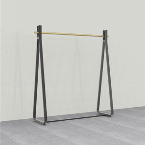 High quality metal clothes display racks for garment shop