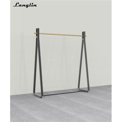 High quality metal clothes display racks for garment shop