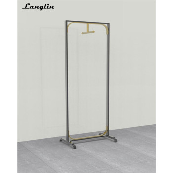 2018 New Design Stainless steel clothing show racks for garment shopping mall