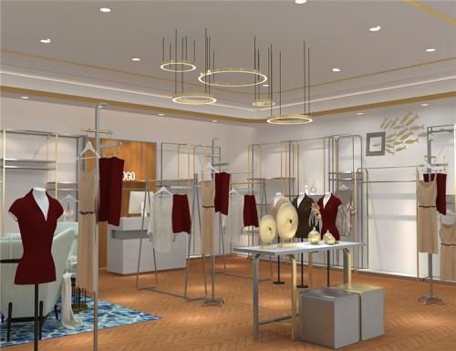 2018 New Design Stainless steel clothing show racks for garment shopping mall