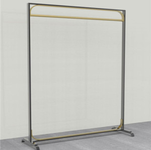 Customized Rose gold metal shelf rack display for clothing Exclusive shop