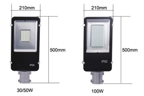 30W nuevo modelo de lámpara de calle solar LED para la iluminación exterior dividida