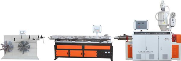 新型高速PP-PE PVC波纹管机生产线
