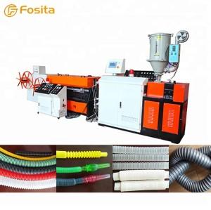 PVC PE plastic single wall corrugated pipe extrusion machine production line