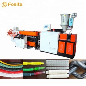 PVC PE plastic single wall corrugated pipe extrusion machine production line