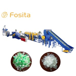Fosita PET Flake Bottle PP PE Film Washing and Recycling Line