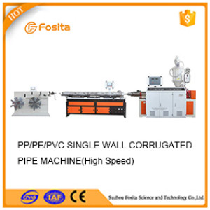 PVC PP PE single wall corrugated pipe extrusion machine