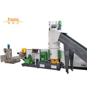 PP PE Recycling and Water-ring Pelletizing Granulating System with compactor