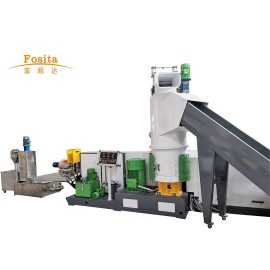 Plastic Pelletizing Machine with Compactor Design Granulating System Manufacturer Fosita Company