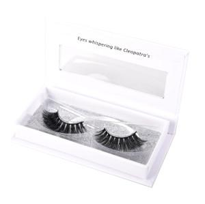 Own brand glitter eyelash packaging box cruelty free real 3d mink eyelashes