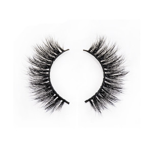Wholesale high quality 3D mink wispy eyelashes by handmade