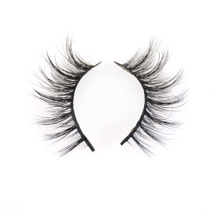 Own Brand Flare 3d Mink Strip False Eyelashes Custom Logo Eyelash Case