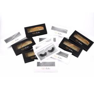 own brand Length mink eyelashes Plastic Eyelash Trays Eyelashes Packaging