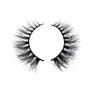 100% Siberian Fur Fake Eyelashes Thick Crisscross Deluxe False Lashes Black Nature Fluffy Long Soft