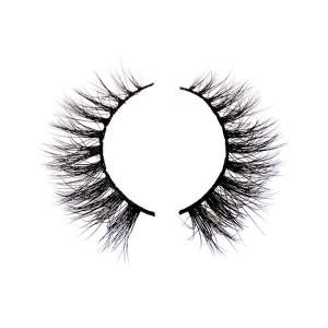 100% pelliccia siberiana Ciglia finte spesse incrociate Deluxe Ciglia finte Natura nera Soffice lunga morbida