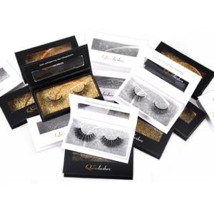 100% Siberian Fur Fake Eyelashes Thick Crisscross Deluxe False Lashes Black Nature Fluffy Long Soft