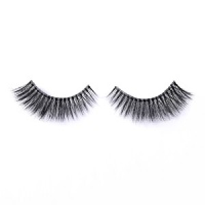 hot sell!!private label clear band false eyelash 3D mink lashes with custom eyelash box packaging