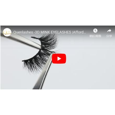 3D mink wispy eyelashes by handmade