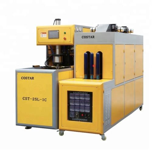 Semi automatic pet bottle Blow Molding Machine for pet preform 25l-1c
