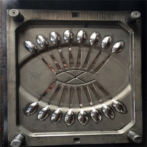 Multi-cavity injection machine disposable plastic fork mold