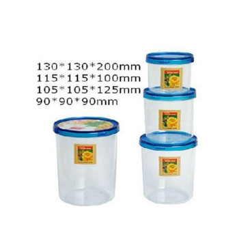 Excellent quality round shape plastic injection preservation box mold