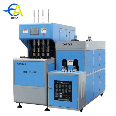 2-4 cavities  semi automatic pet blowing machine for making plastic bottles