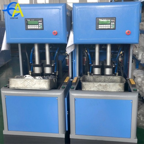 2 Cavity ecomomy semi automatic Pet plastic bottle blowing machine