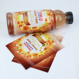 Pvc shrink label for soft drink bottle,pvc shrink label sleeve,pvc shrink labels