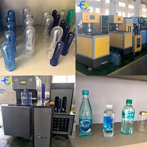 One year warranty 5 liter juice pet bottle blowing machine