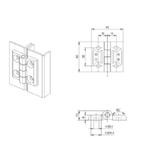 CL226-1S  Hinge for Low voltage switchgear accessories  from JUCRO Electric