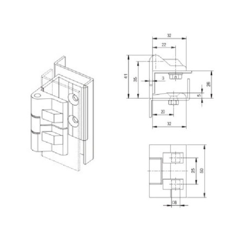 CL213-2  Hinge for Low voltage switchgear accessories  from JUCRO Electric