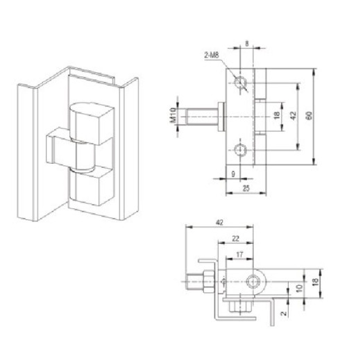 CL206-3B  Hinge for Low voltage switchgear accessories  from JUCRO Electric