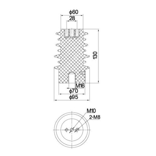 Sensor SSR-10J 95mm*130mm 12KV  for Low voltage switchgear accessories from JUCRO Electric