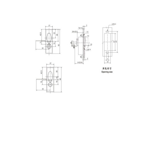 Flat Lock MS505 for Switchgear from JUCRO Electric