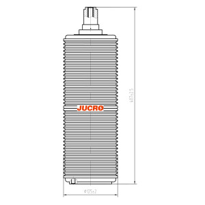 Vacuum Interrupter JUC632 40.5KV 1600A 31.5KA for VCB vacuum circuit breaker use from JUCRO Electric